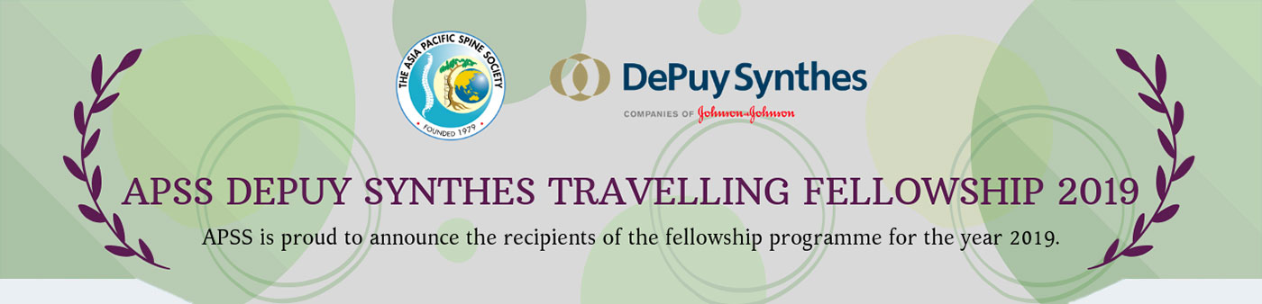 APSS DePuy Synthes Travelling Fellowship 2019