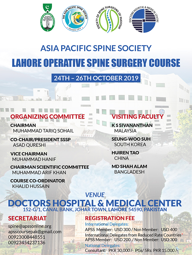 Asia Pacific Spine Society | Spine Section of APOA | Spine