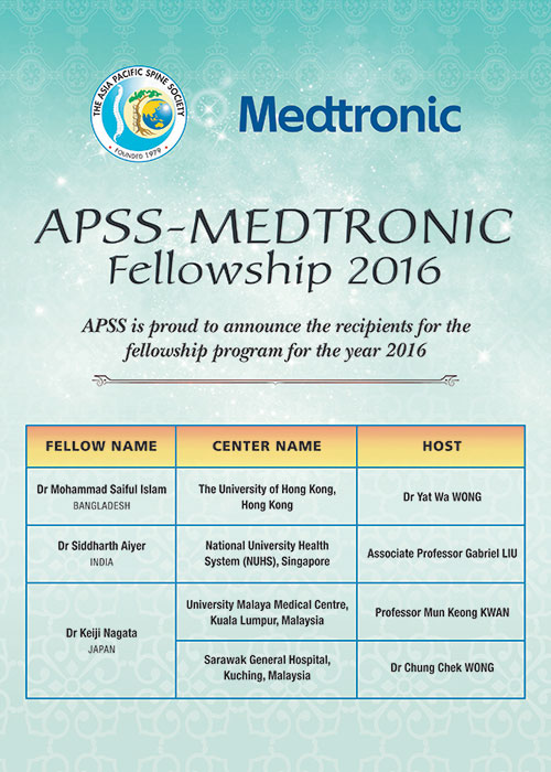 APSS Medtronic Fellowship