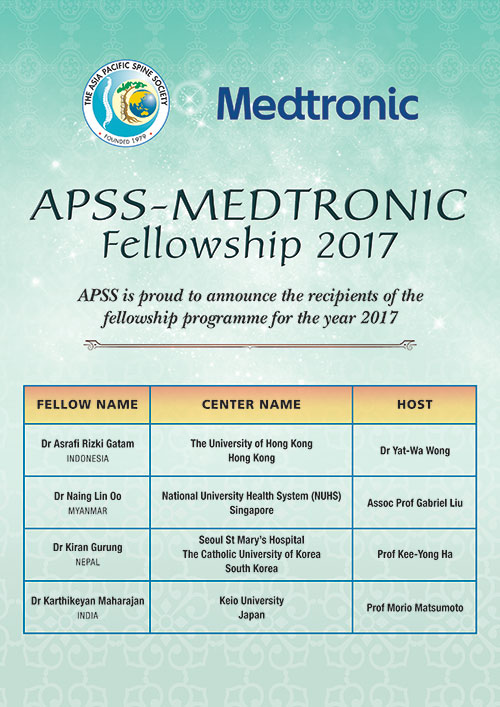APSS Medtronic Fellowship 2017