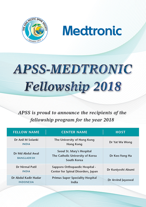 APSS Medtronic Fellowship 2018