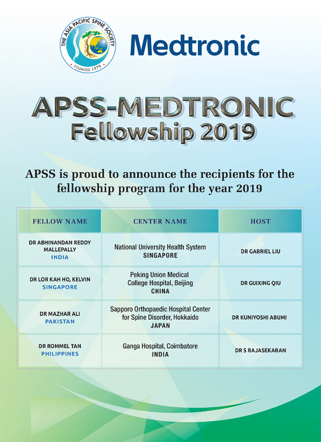 APSS Medtronic Fellowship 2019
