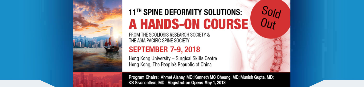 A hands on course - Spine Deformity 2018